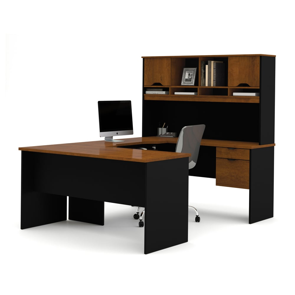 Bestar Innova U-shaped Workstation Desk (Tuscany Brown & ...