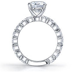 18k White Gold 1 2/5ct TDW Diamond Engagement Ring (I, SI1) - Thumbnail 1