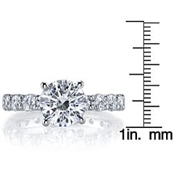 18k White Gold 1 2/5ct TDW Diamond Engagement Ring (I, SI1) - Thumbnail 2