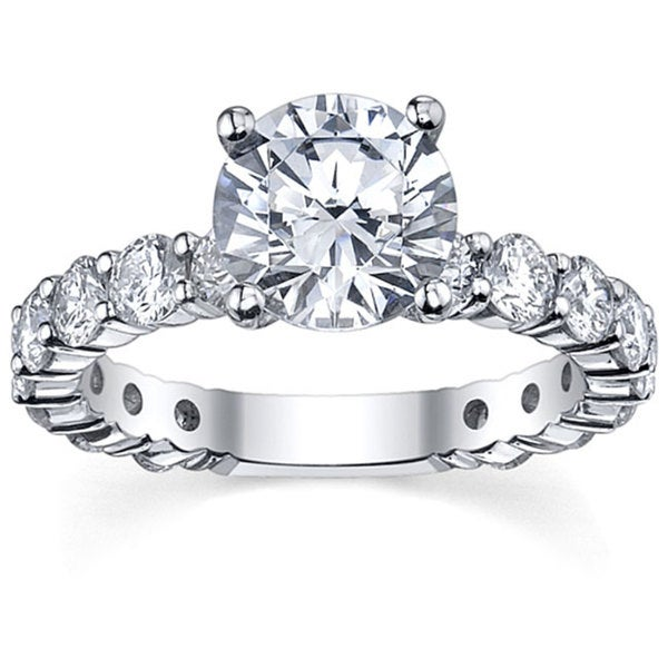 14k White Gold 1 5/8ct TDW Round-cut Diamond Engagement Ring