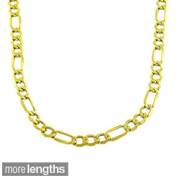 Fremada 10k Yellow Gold Figaro Necklace (18-24 inches)