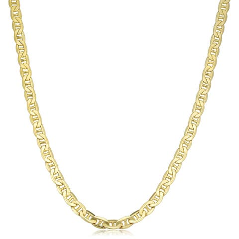 Fremada 10k Yellow Gold Mariner Chain Necklace (20 inches)