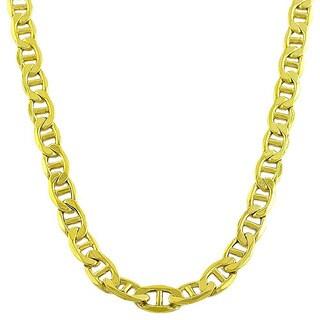 Fremada 10k Yellow Gold Mariner Chain Necklace