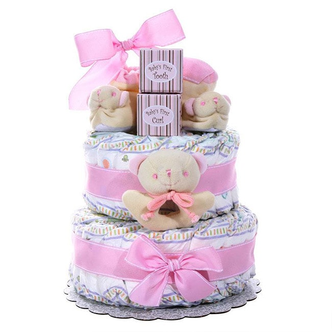 Alder Creek Girl's Two-tier Diaper Cake - Thumbnail 0
