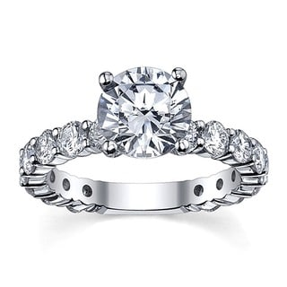 14k White Gold 4 5/8ct TDW Round Solitaire Diamond Ring