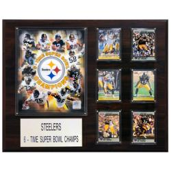 Pittsburgh Steelers 6x Super Bowl Champion Player Plaque