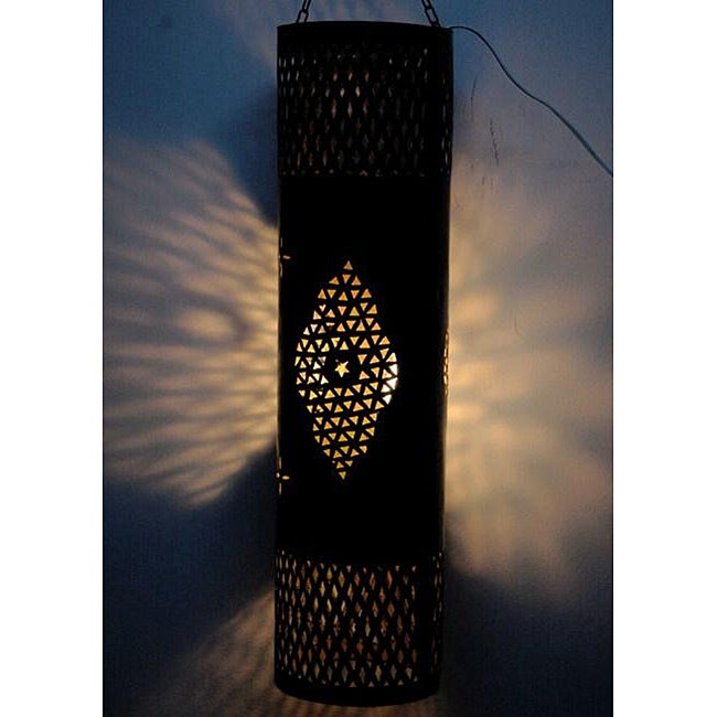 Handmade Anbar Indoor/ Outdoor 1-light Bronze Chandelier (Morocco)