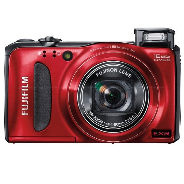 Fujifilm FinePix F500EXR 16MP Red Digital Camera