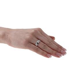 10k White Gold Women's Flat 5-mm Wedding Band - Thumbnail 2