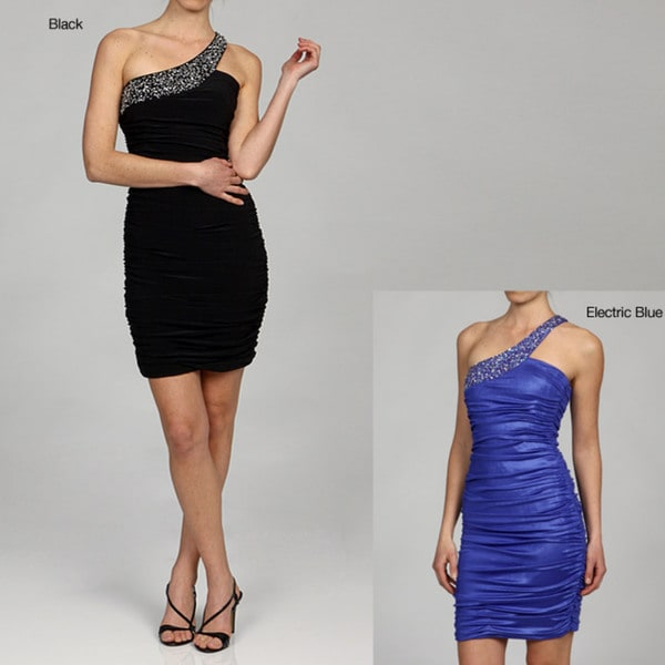 Issue New York Women's One-shoulder Sequin Accent Cocktail Dress
