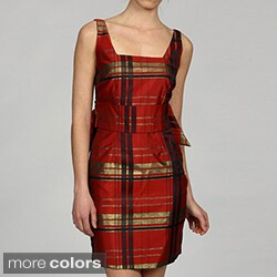 Issue New York Women's Sleeveless Plaid Dress (As Is Item)