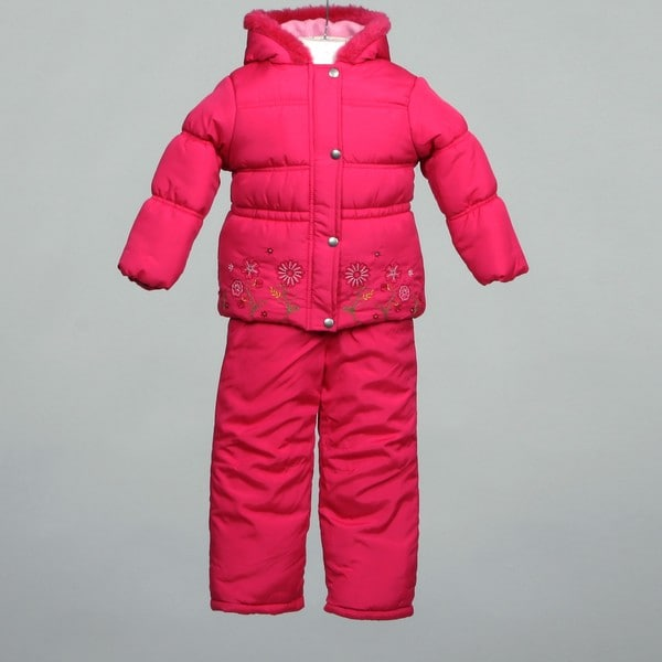 db8ef2381 Shop Pink Platinum Girl's Two-piece Snowsuit Set - Free Shipping On ...