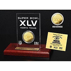 Super Bowl XLV Champion 24k Game Coin