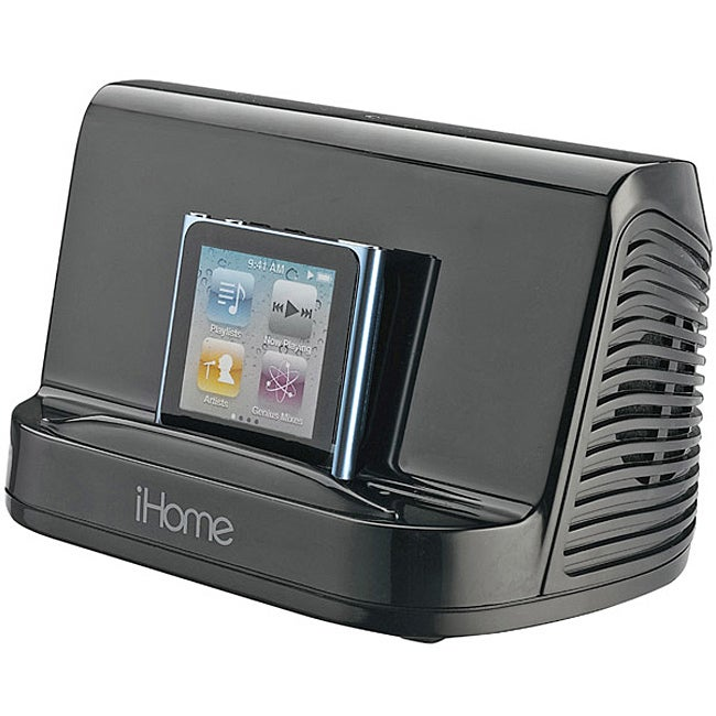 iHome Black iHM16 Portable MP3 Stereo Speaker