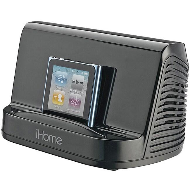 iHome Black iHM16 Portable MP3 Stereo Speaker