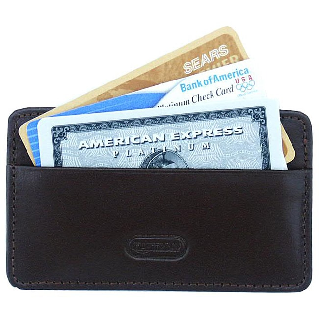 Leatherbay Calf Leather Credit Card Holder