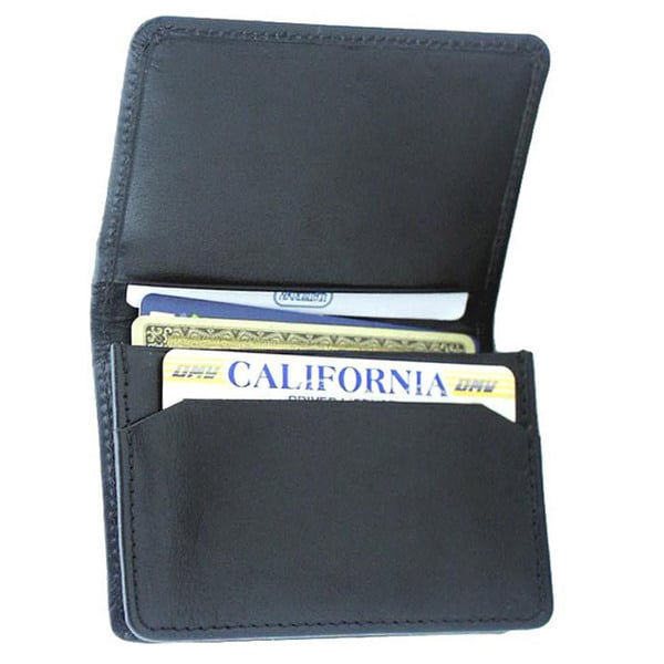 Leatherbay Leather Flip Top Card Holder
