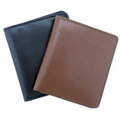 Leatherbay Men's Leather Black Bi-fold Wallet