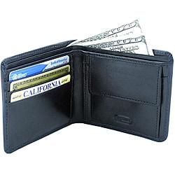 Leatherbay Black Leather Bi-fold Wallet