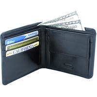 Leatherbay Black Leather Bi-fold Wallet