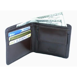 Leatherbay Men's Leather Brown Bi-fold Wallet