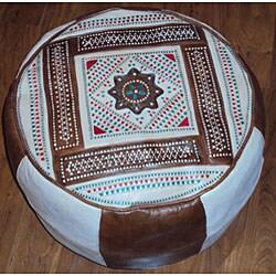 Leather Camel Berber Ottoman (Morocco)
