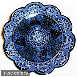 Ceramic 'Moroccan Sunset' Engraved Decorative Plate (Morocco)