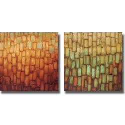 Alexandra Perry 'Highlights I and II' 2-piece Canvas Art Set