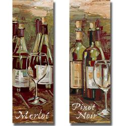 Heather French-Roussia 'Merlot and Pinot Noir' 2-piece Canvas Art Set - Thumbnail 1