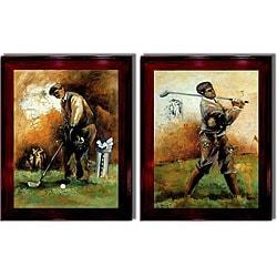 Roya Azim 'The Game of Golf' Framed 2-piece Canvas Art Set