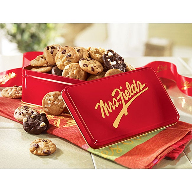 Mrs. Fields Classic 24 Nibblers Red Gift Tin - Thumbnail 0