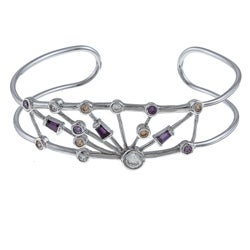 La Preciosa Sterling Silver CZ Bangle