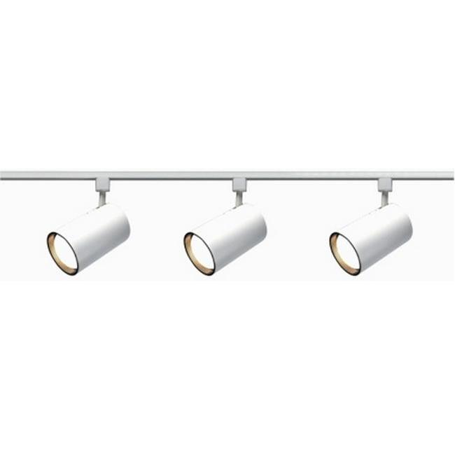 Nuvo Lighting 3-light Longneck White Straight Cylinder Track Light Kit