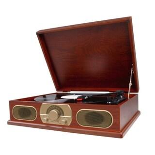 Studebaker SB6051 Wooden Turntable with AM/FM Radio