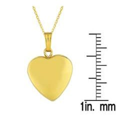 Sterling Silver/ 14k Gold Heart Locket Necklace - Thumbnail 2