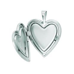 Sterling Silver Butterfly Heart Locket Necklace