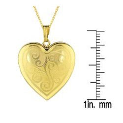 14k Gold and Sterling Silver Heart Locket Necklace