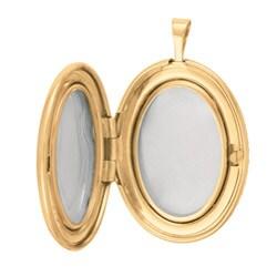 Sterling Silver/ 14k Gold Oval Locket Necklace