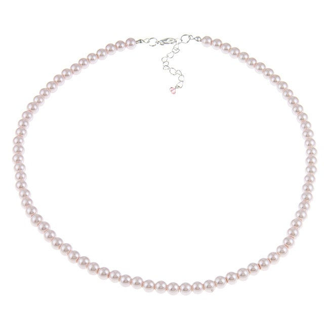 Crystale Pink Faux Pearl 20-inch Necklace