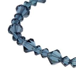 Crystale Montana Blue Crystal Stretch Bracelet