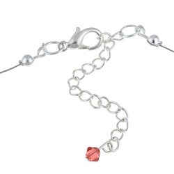 Crystale Silvertone Pink Crystal Necklace