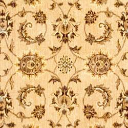 Afghan Oushak Beige Wool Rug (3'9 x 5'9)