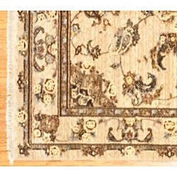 Herat Oriental Afghan Hand-Knotted Oushak Wool Rug (5'9 x 8'9) - Thumbnail 2