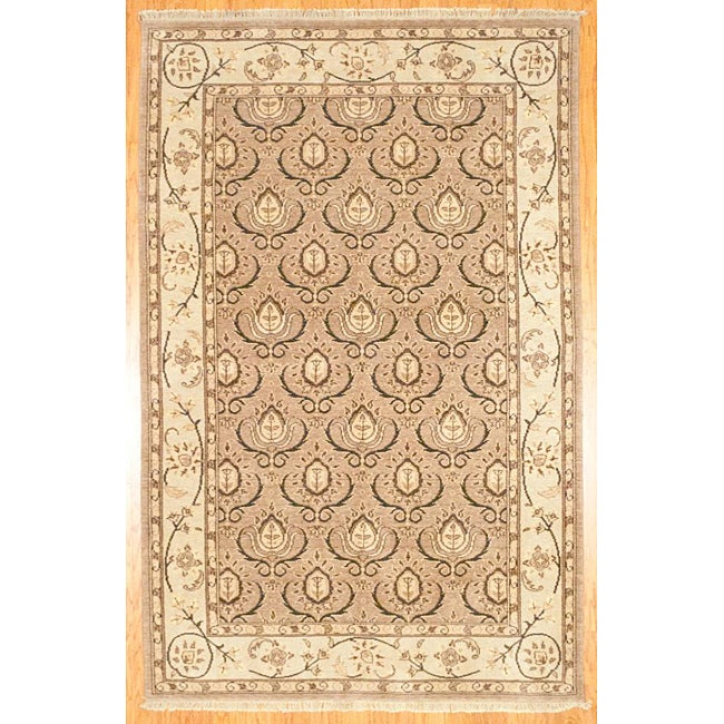 Herat Oriental Afghan Hand-knotted Oushak Wool Rug (5'9 x 8'9)