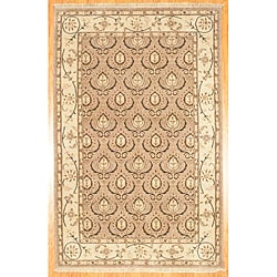 Herat Oriental Afghan Hand-knotted Oushak Wool Rug (5'9 x 8'9) - Thumbnail 0