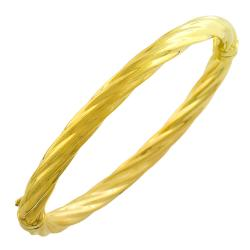 Goldkist 18k Yellow Gold over Silver Bangle