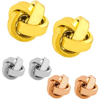 Fremada Love Knot Stud Earrings