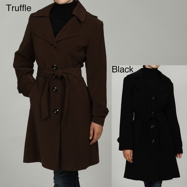 Gallery Women's Belted Trench Coat