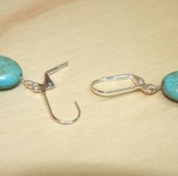 Silverplated Blue Skies Turquoise Earrings
