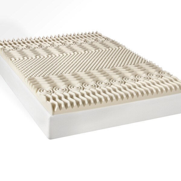 Luxury Memory Foam Mattress Review Select Luxury 3-inch Memory Foam 7-zone Mattress Topper ...